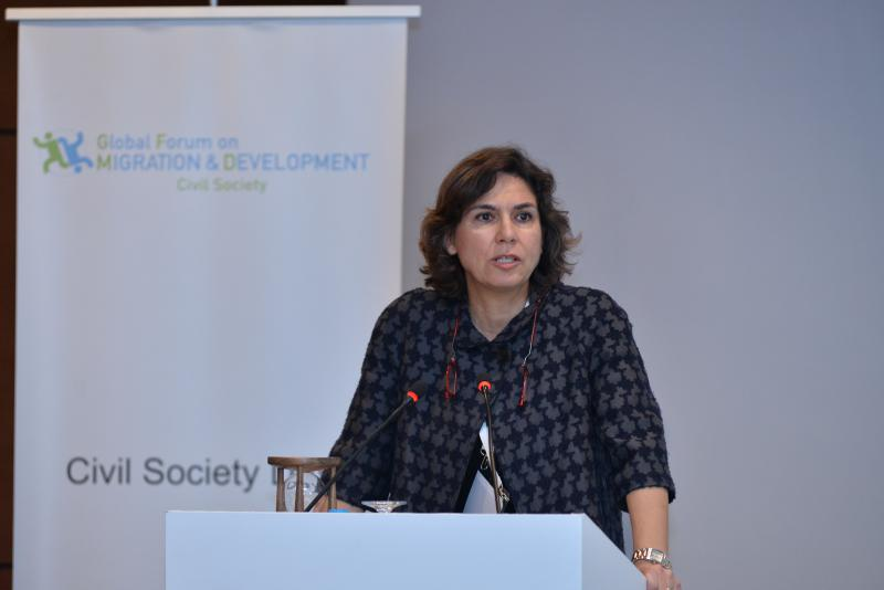 Turkey GFMD Chair addresses the Opening  Of 2015 Civil Society Days
