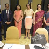 Nahida Sobhan, Shahidul Haque, Lakshmi Puri, Roberta Clarke, Deepa Bharathi and Sadia Faizunessa GFMD-GMG Breakfast